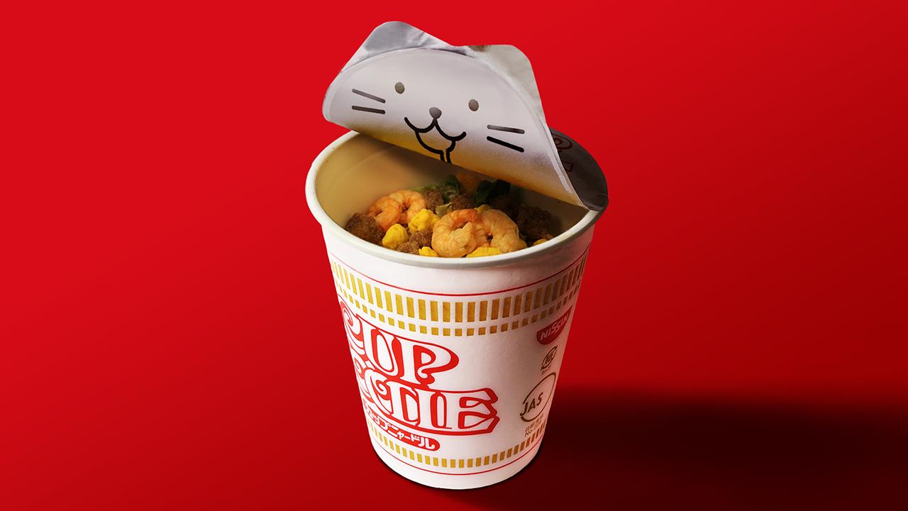 カップヌードル 猫の日施策「カップニャードル」